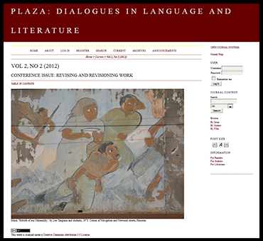 Plaza: Dialogues in Language and Literature
