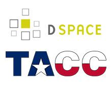 DSpace and TACC logos